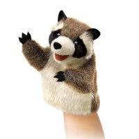 """Мягкая игрушка на руку """"маленький енот"""" (15 см), Folkmanis"""