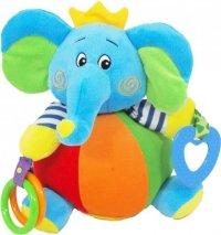 """Игрушка c погремушкой """"слон в короне"""" (20 см), Baby mix"""