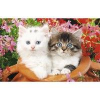 """Пазлы """"в мире животных. котята в цветах"""", 160 элементов, Канц-Эксмо (Listoff, Unnika Land)"""