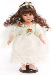 """Кукла фарфоровая """"ангел"""", 30 см (коричневые волосы), Angel Collection"""