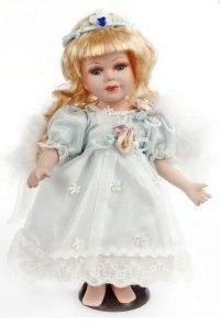 """Кукла фарфоровая """"ангел"""", 30 см (белые волосы), Angel Collection"""
