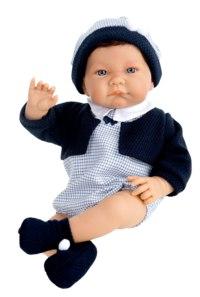 Кукла марк в синем, озвученная (40 см), Antonio Juan Munecas