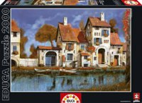 "Пазл ""дом на берегу озера, гвидо борелли"" (2000 деталей), Educa"