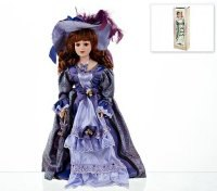 "Кукла декоративная, фарфоровая ""ульяна"" 13x7,5x36,5 см, ArtHouse"