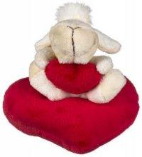"""Игрушка мягкая """"веселая овечка"""" с сердцем (12 см), Funny Line"""