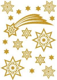 """Наклейки """"новый год. летящие звезды"""", Herma"""
