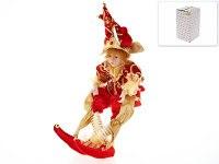 """Кукла декоративная, фольклорная """"петрушка"""" 15x30x29 см (с декоративными стразами), Euphorie"""
