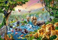 """Пазл """"река в джунглях"""" (500 элементов), Castorland"""