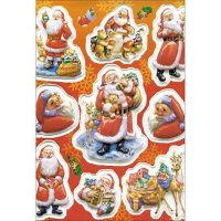 """Наклейки """"новый год. дед мороз с подарками"""", Herma"""