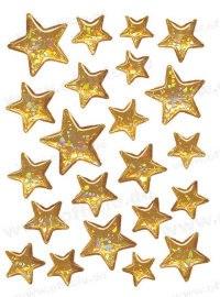 """Наклейки """"новый год. золотистые звезды"""", Herma"""
