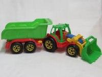 Трактор с ковшом и прицепом, FCH
