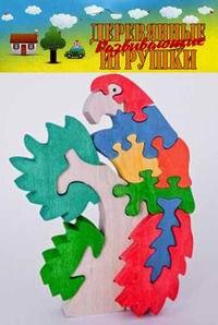 Попугай. деревянный пазл-конструктор, 11 элементов, Анданте