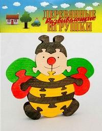 Пчелка. деревянный пазл-конструктор, 14 элементов, Анданте