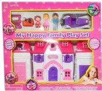 """Дом для кукол """"моя счастливая семья"""", с машинкой, Shantou Gepai"""
