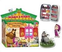 """Магнитный театр """"маша и медведь. маша + каша"""", Vladi Toys"""