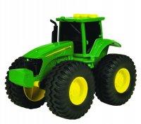 """Электронный пластиковый трактор с большими колесами """" john deere"""", звук, свет, 19х18х13 см, Tomy"""
