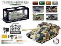 """Танк """"zhorya victor"""" 1:20 на радиоуправлении с аккумулятором, стреляющий, 54х55х24,5 см, Solmar Pte Ltd"""