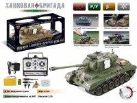 """Танк """"zhorya leopard"""" на радиоуправлении с аккумулятором, стреляющий, 54х55х24,5 см, Solmar Pte Ltd"""