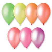 """Надувные шары 9"""", неон, 100 штук, Веселый праздник"""