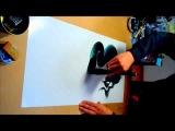 Japanese One Stroke Dragon Art 一筆龍 FreeHand | Художник из Японии рисует движение дракона