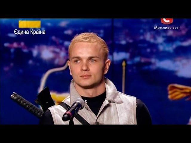 Україна має талант 6 (Днепропетровск 08.03.14) Шпагоглотатель Александр МАГАЛА