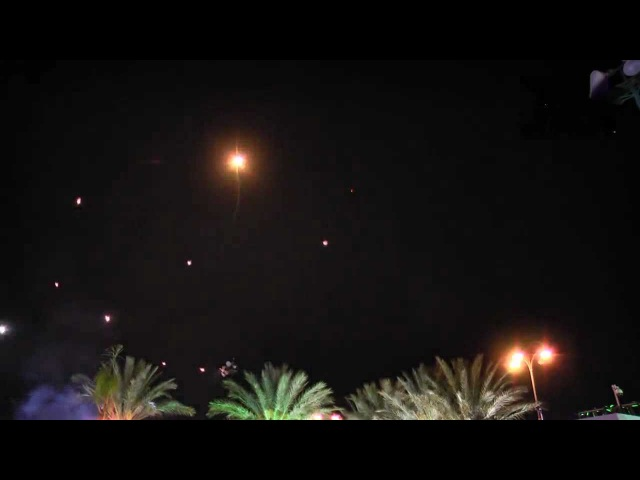 Israel - New Video Wedding Guests Received Unexpected Fireworks - Iron Dome Protection