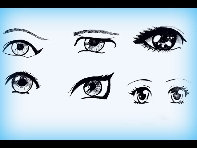 Уроки рисования. Как нарисовать АНИМЕ глаза
