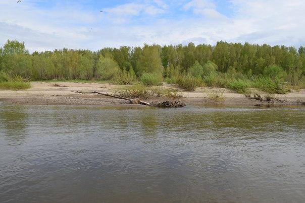 Пляж на правом берегу р.Урал