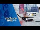 Crazy Photo Finish In Men's Ski Cross Quarter-Final  Sochi 2014 Winter Olympics