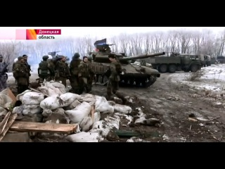 Репортаж из пригорода Углегорска,окружение украинской группировки вопрос времени 29.01.2015