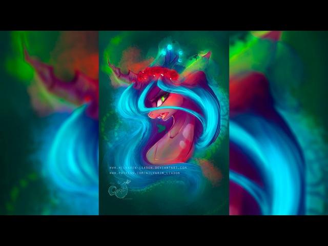 REDRAW: Queen Chrysalis SpeedPaint by Wilvarin Liadon