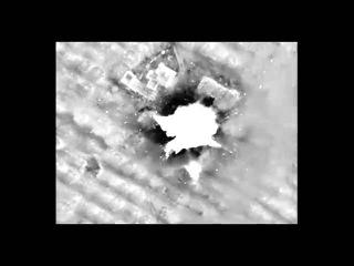 Точечный удар по командному пункту боевиков в пров  Идлиб корректируемой авиабомбой КАБ 500