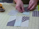 How to make a Picket Fence block using 5 squares - Quilting Tips Techniques 045