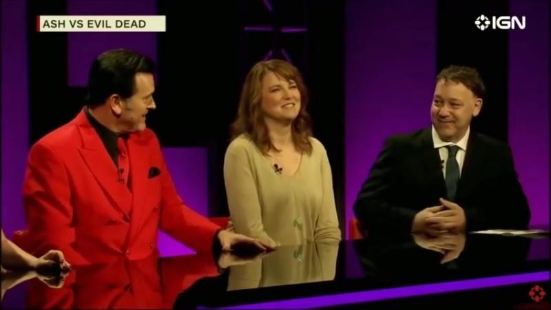 Sam Raimi Lucy Lawless e Bruce Campbell em entrevista sobre Ash Vs Evil Dead Legendado смотреть онлайн без регистрации