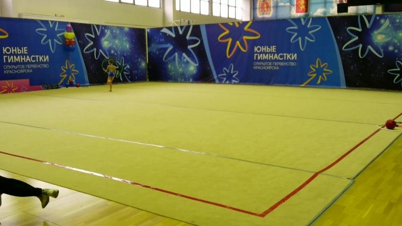 Выступление моей дочери соревнования Юные Гимнастки