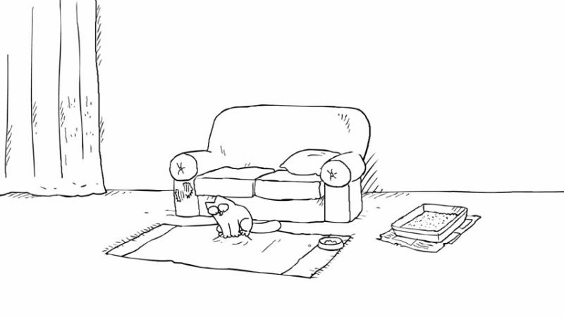Мультик про кота Саймона смешно