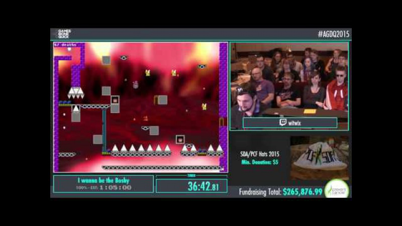 AGDQ 2015 I wanna be the Boshy Speed Run in 1:02:22 by witwix AGDQ2015