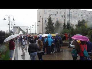 Бело-сине-красное шествие Омск