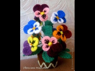 Вязаные цветы. Как настоящие. Crocheted flowers. Very nice.