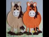 Вязаные лошадки. Замечательный подарок к Новому 2014 году. Сrocheted and knitted horses