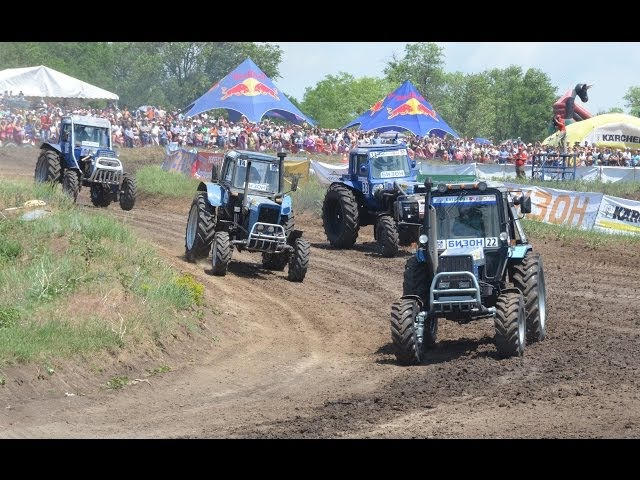Гонки на тракторах Бизон Трек Шоу 2013 Лучшие моменты