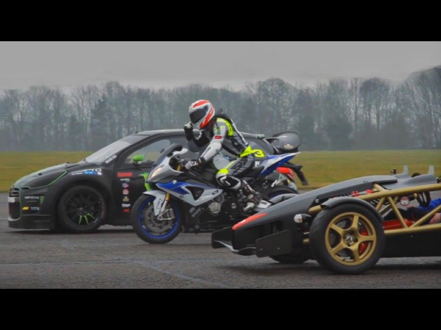 Ariel Atom V8 vs BMW HP4 vs Citroen DS3 600hp
