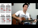 Wonderwall by Oasis Acoustic Guitar Lesson How to Play Strumming Chord Songs