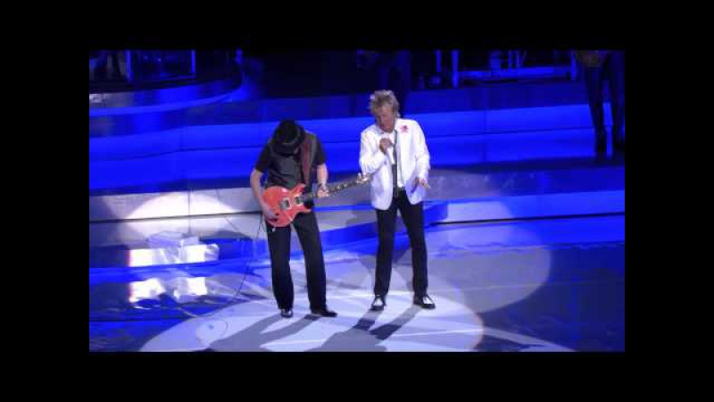 Rod Stewart Santana Perform Live In Las Vegas