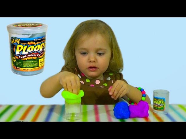 Пердушки лизуны в баночках издающие прикольные звуки Yuk Ploop toys unboxing slime silly putty noise