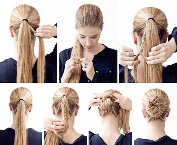 Причёски на густые волосы своими руками на каждый день