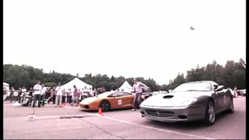 Moscow Unlim 500- Lamborghini Gallardo vs Ferrari 575M - Mover.uz