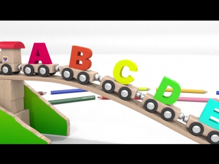 Cartoons for children. Nursery rhymes for babies. Learn ABC song with alphabet train.