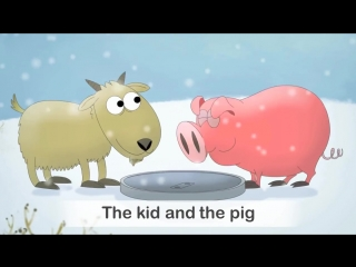 Kid and the pig