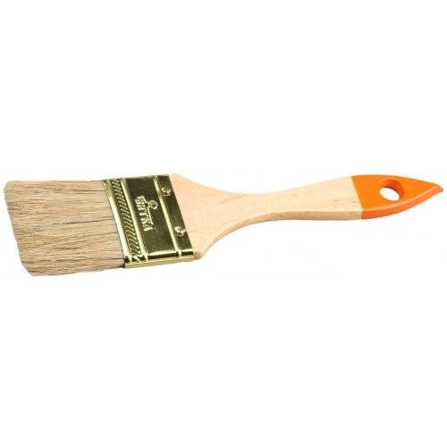 Кисть флейцевая , деревянная ручка, натуральная щетина, 20мм   ВЯТКА